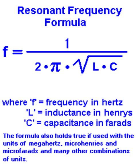 calculate capacitor resonant frequency resonant frequency calculator