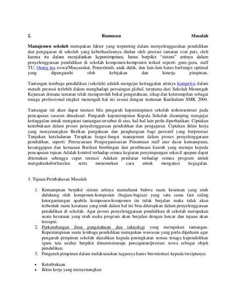 Manajemen Penfidikan makalah manajemen pendidikan