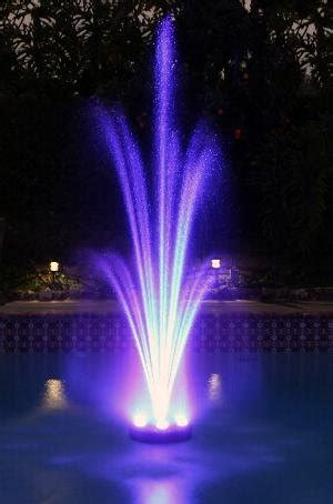 rgb led color changing floating fountain pump light