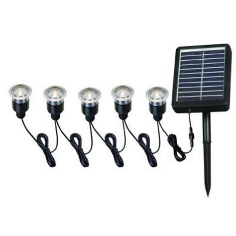 solar deck lights with remote panel 5 light black led string with remote panel for solar deck