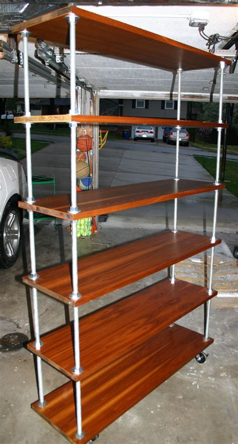threaded rod shelves with casters office