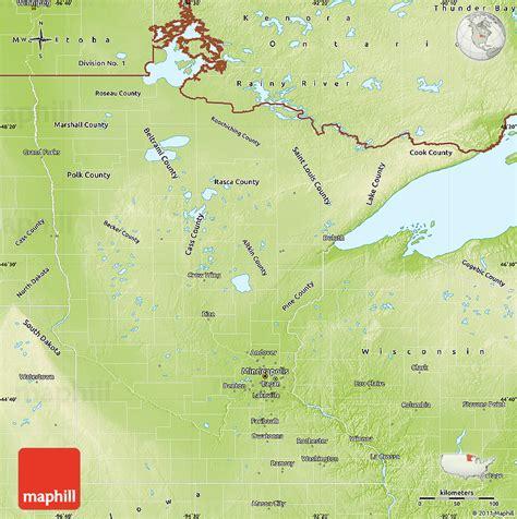 physical map of minnesota physical map of minnesota