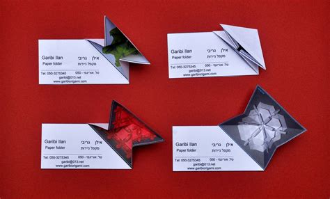 Origami Business Cards - origami business card business cards origami and business