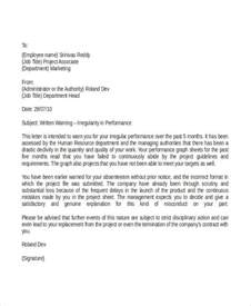 professional warning letter template 6 free word pdf documents free premium