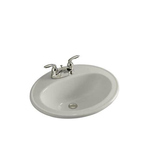 grey bathroom sink kohler pennington drop in vitreous china bathroom sink in