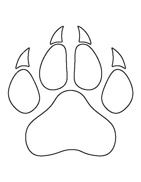 1000 Images About Stencil Patterns On Pinterest Paw Template