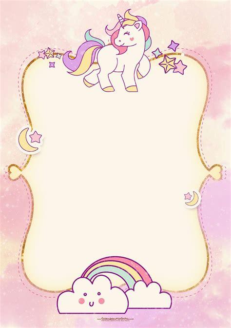 ver imagenes unicornios fiesta de unicornios invitaciones para imprimir gratis