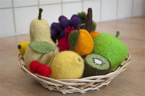 felt grapes pattern needle felted fruits made to order on luulla