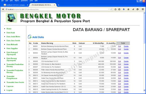 membuat web kredit motor dengan php free download membuat program bengkel dengan visual basic