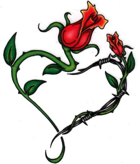 heart rose and vine tattoo designs drawings of vines clipart best