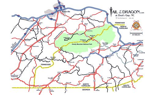 tennessee carolina map the southern romp website