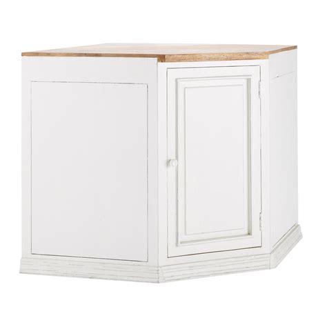 meuble d angle de cuisine meuble bas d angle de cuisine ouverture droite en manguier blanc l 133 cm eleonore maisons du