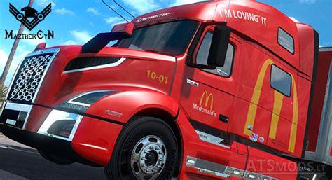 skin mcdonalds volvo vnl   cargo mazthercyn american truck simulator mods
