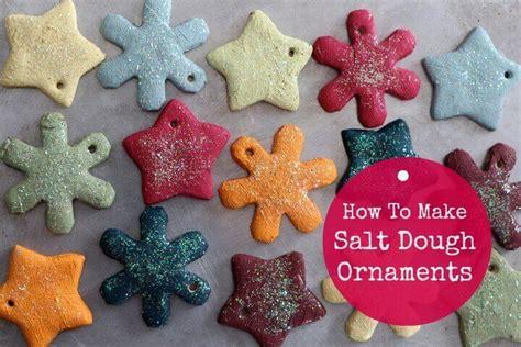 how to make kids christmas ornaments step by step salt dough ornament recipe