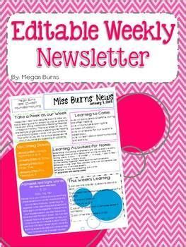 1000 ideas about weekly newsletter template on weekly newsletter class newsletter