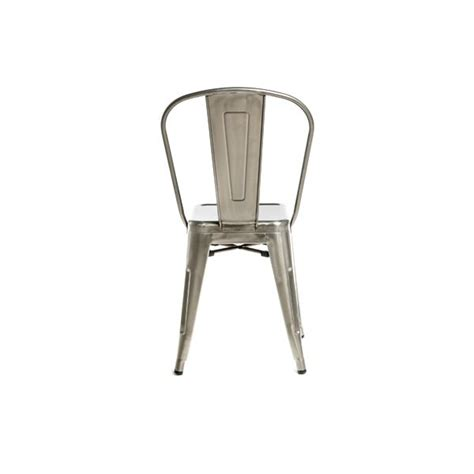 Galvanized Bistro Chair Galvanized Brushed Nickel Finish Tolix Chair Metalrestaurantchairs