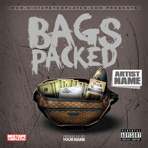 free mixtape templates bags packed mixtape cover template by
