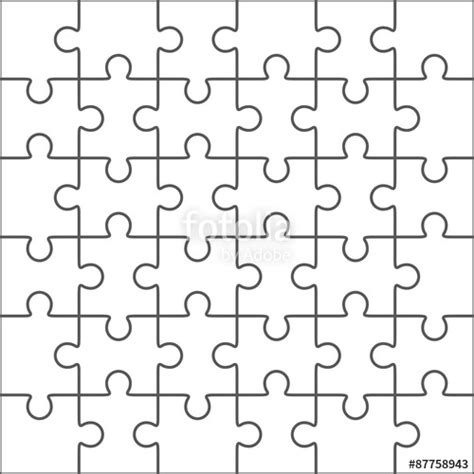 pattern for drawing around crossword vector jigsaw puzzle blank template 36 pieces shrink