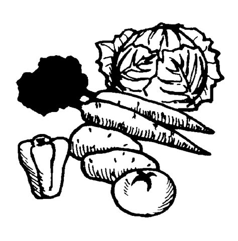 vegetables clipart black and white fruit and vegetable clip black and white clipart