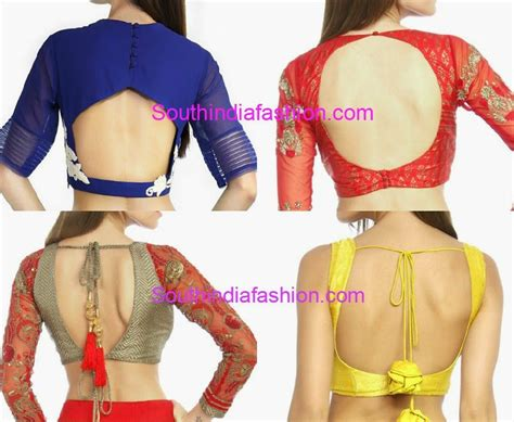 Back Neck Blouses Fashion Trends South India Fashion Neck Back Designs For