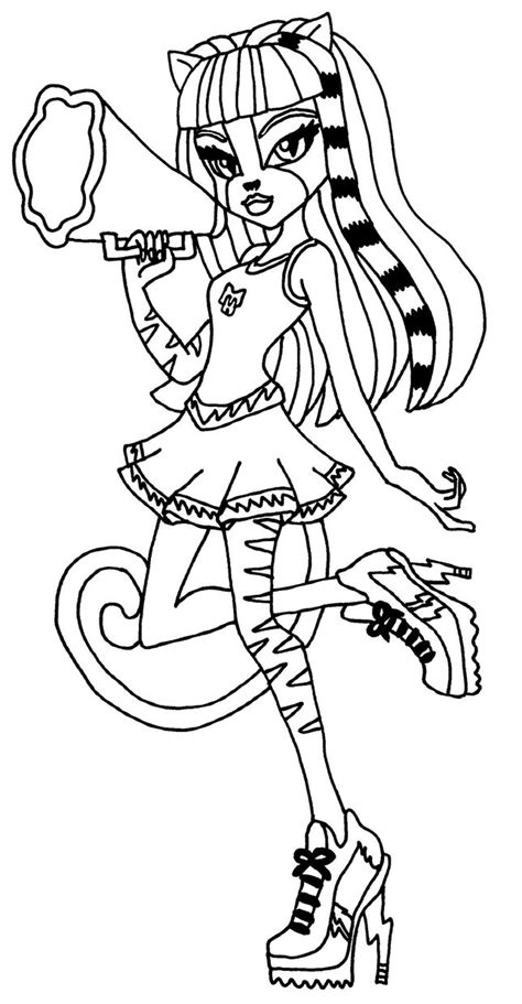 monster high coloring pages to play monster high purrsephone and meowlody all free coloring