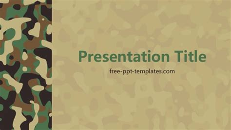 Camouflage Powerpoint Template Camouflage Powerpoint