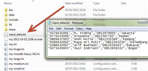 membuat query pada mysql tutorial belajar mysql menambahkan data dari file load