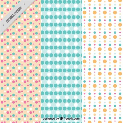 dot pattern vector pack pack of three patterns of dots in different sizes vector