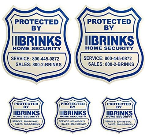 2 home security yard signs w 3 security stickers for