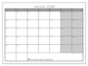 calendrier janvier 2018 54ld