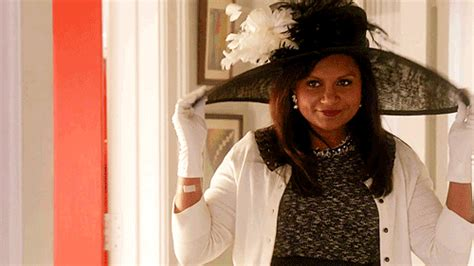 mindy kaling yes gif sun hat gifs find share on giphy
