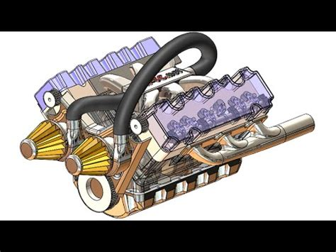 tutorial solidworks motor solidworks a tutorial 203 car engine advanced assembly