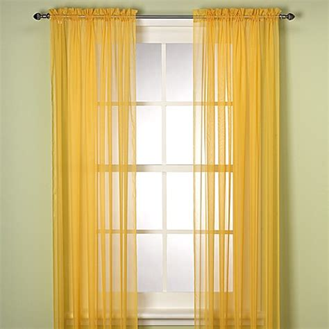 63 inch window curtains buy elegance sheer 63 inch window curtain panel in mimosa