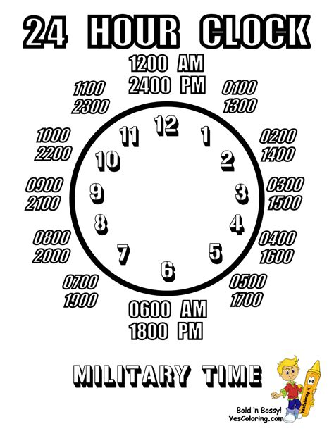 printable military clock face clock coloring sheets coloring pages for kids boys free
