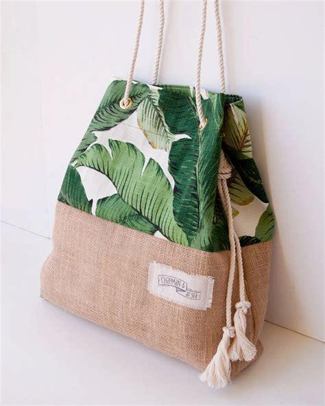 Aldo Pineapple Handbag Palm Print Burlap Bag The Sandbag In Green Banana