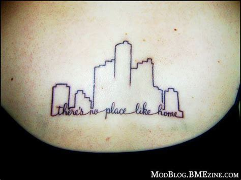 detroit skyline tattoo 25 best ideas about home on tattoos