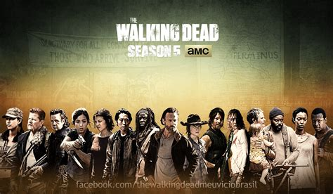 Poster Serial Tv The Walking Dead Cast 2 40x60cm the walking dead season 5 cast poster storywritingfanfiction