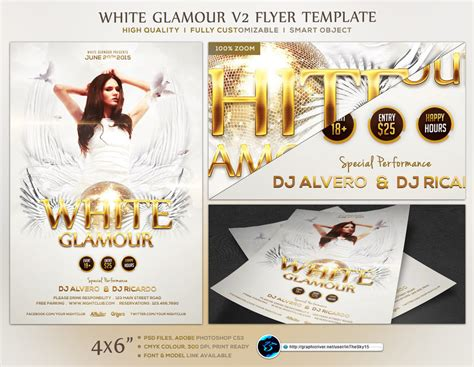 White Glamour V2 Flyer Template By Ranvx54 On Deviantart Flyer Template V2