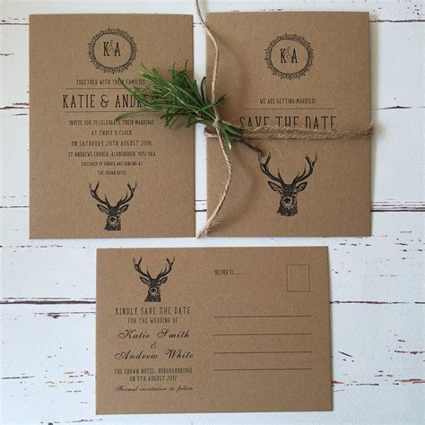 Wedding Invitations And Stationery by Rustic Wedding Invitations And Stationery Wagtail Designs
