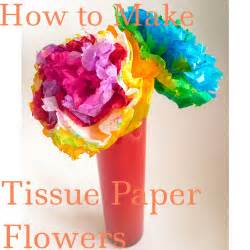 How To Make Paper Flowers Tissue Paper - how to make tissue paper flowers my strange family