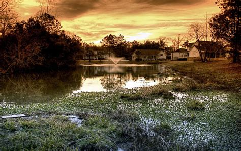3d pond wallpaper wallpapers house and pond wallpapers