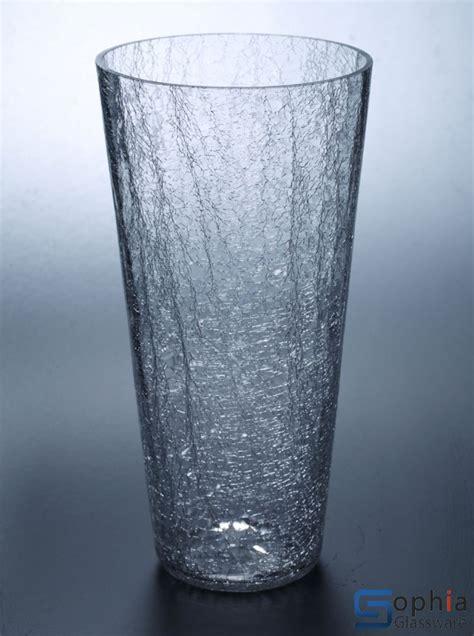 Cracked Glass Vases by Cracked Glass Vases Sb007 Sophiaglassware Glass Vase