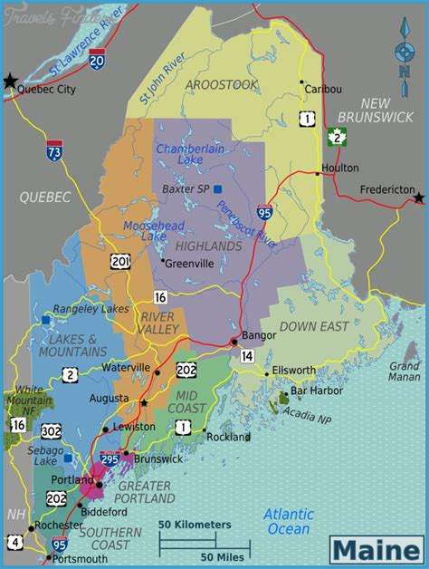 map maine maine map travelsfinders