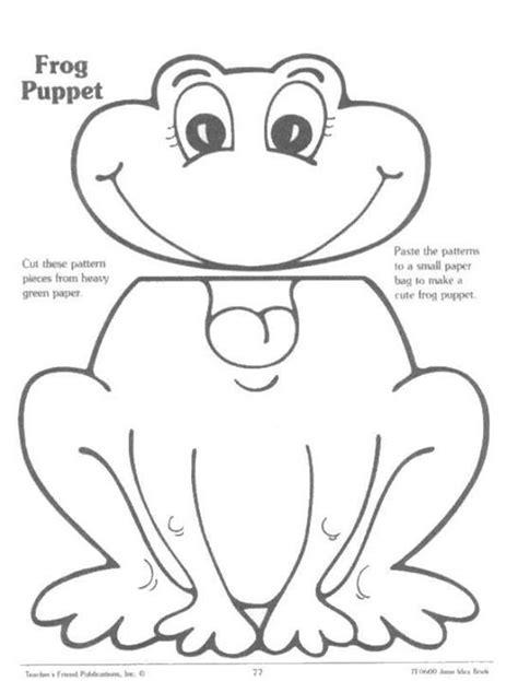 frog finger puppet template frog puppet children lit puppet puppet