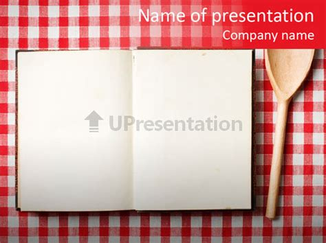 Cooking Wood Notebook Powerpoint Template Id 0000083201 Upresentation Com Culinary Powerpoint Templates