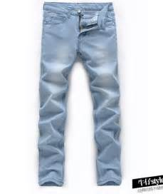 2015 new mens light blue thin