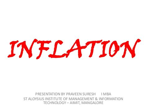 Mba Ppt On Inflation by Inflation