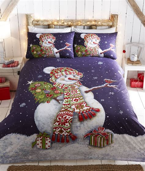 father christmas tree santa duvet quilt cover bedding set