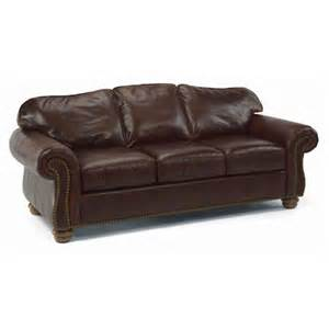 Flexsteel Leather Sofa Price Flexsteel 3648 31 Bexley Sofa With Nails Discount Furniture At Hickory Park Furniture Galleries