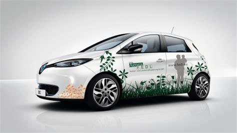 Fahrzeugbeschriftung Elektro by Fahrzeugbeschriftung F 252 R Einen Renault Zoe Elektro